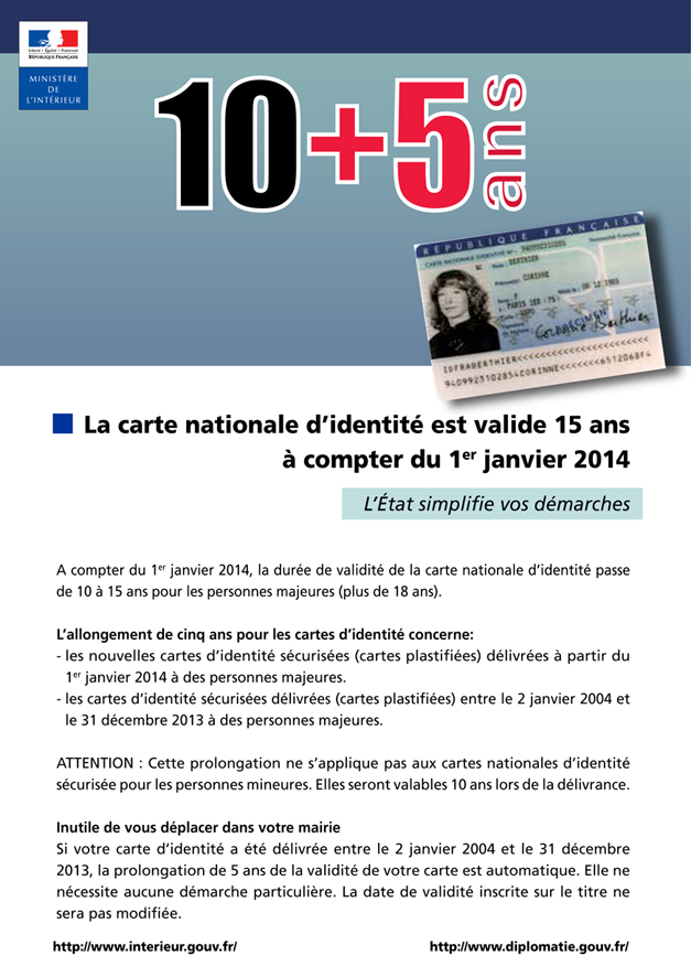 carte d identité valable 15 ans La carte nationale d'identité est valide 15 ans   Ville de Digne