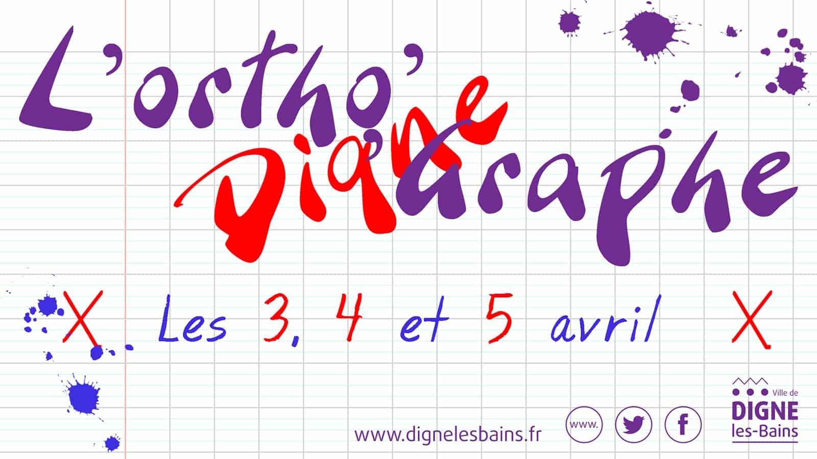 Un sans faute pour l\'orthographe à Digne - Ville de Digne ...