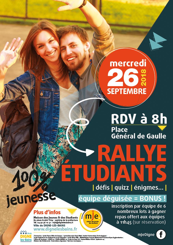 Affiche Rallye Etudiant