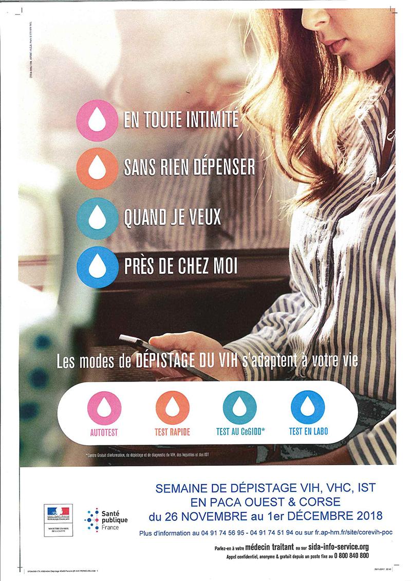 Affiche journées de dépistage VIH