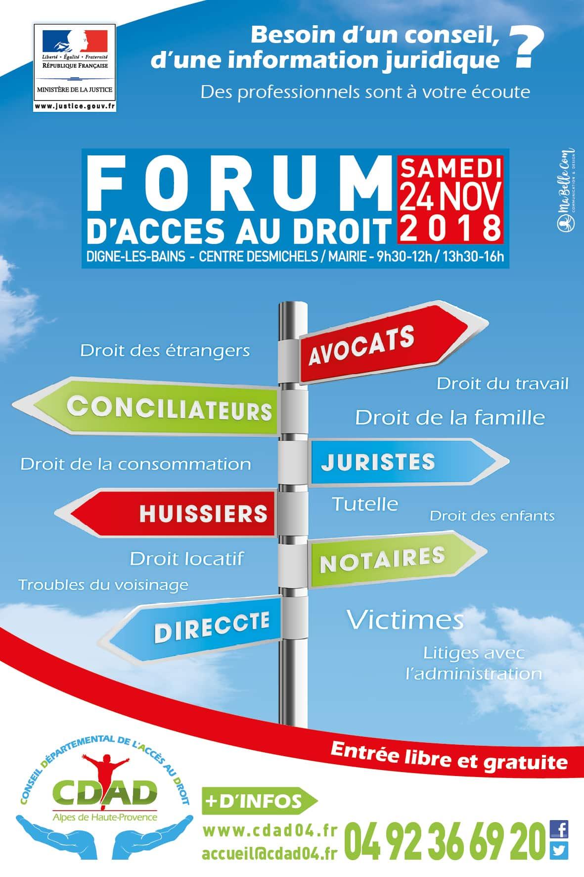Affiche Forum d'Accès aux Droits