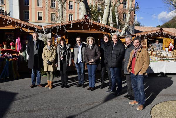Inauguration du marché de Noël