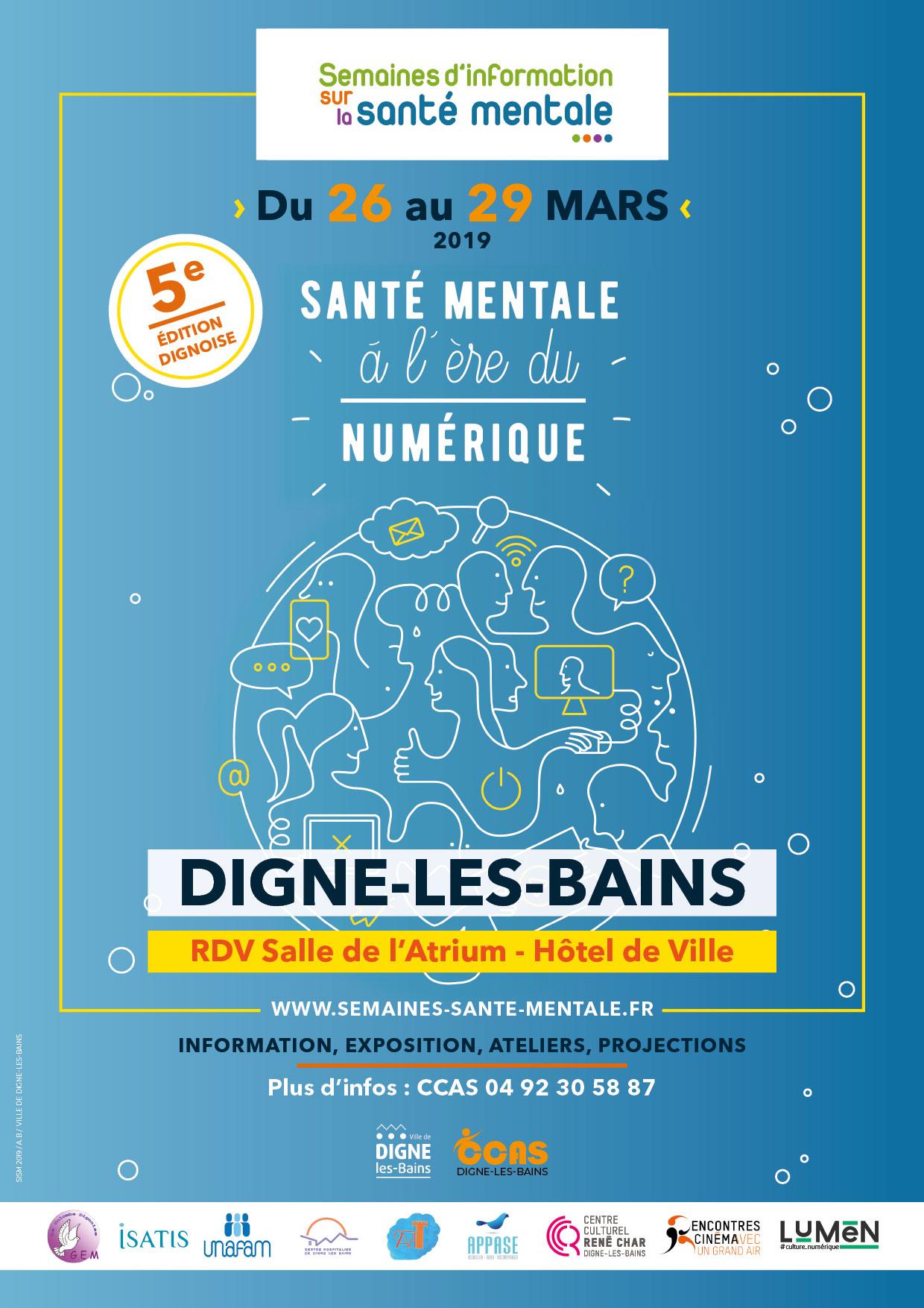 Affiche campagne Semaines d'information santé mentale