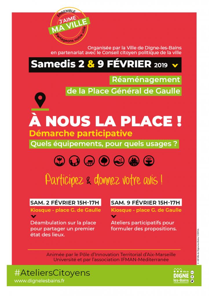 """Affiche """"A nous la Place !"""""""