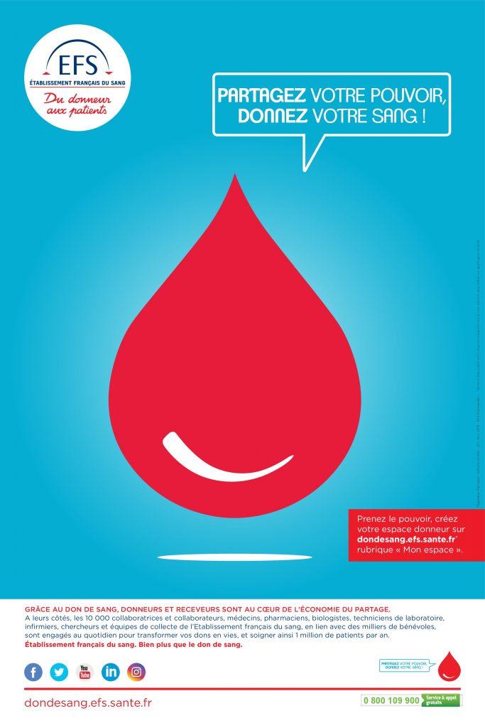 Partagez votre pouvoir, donnez votre sang