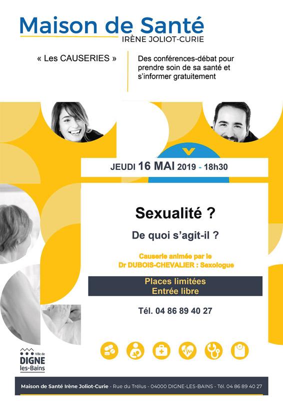 Affiche causerie Maison de Santé