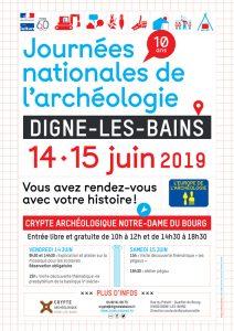 affiche des Journées nationales de l'archéologie