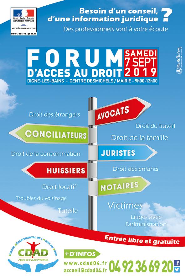 Flyer Forum d'accès aux droits
