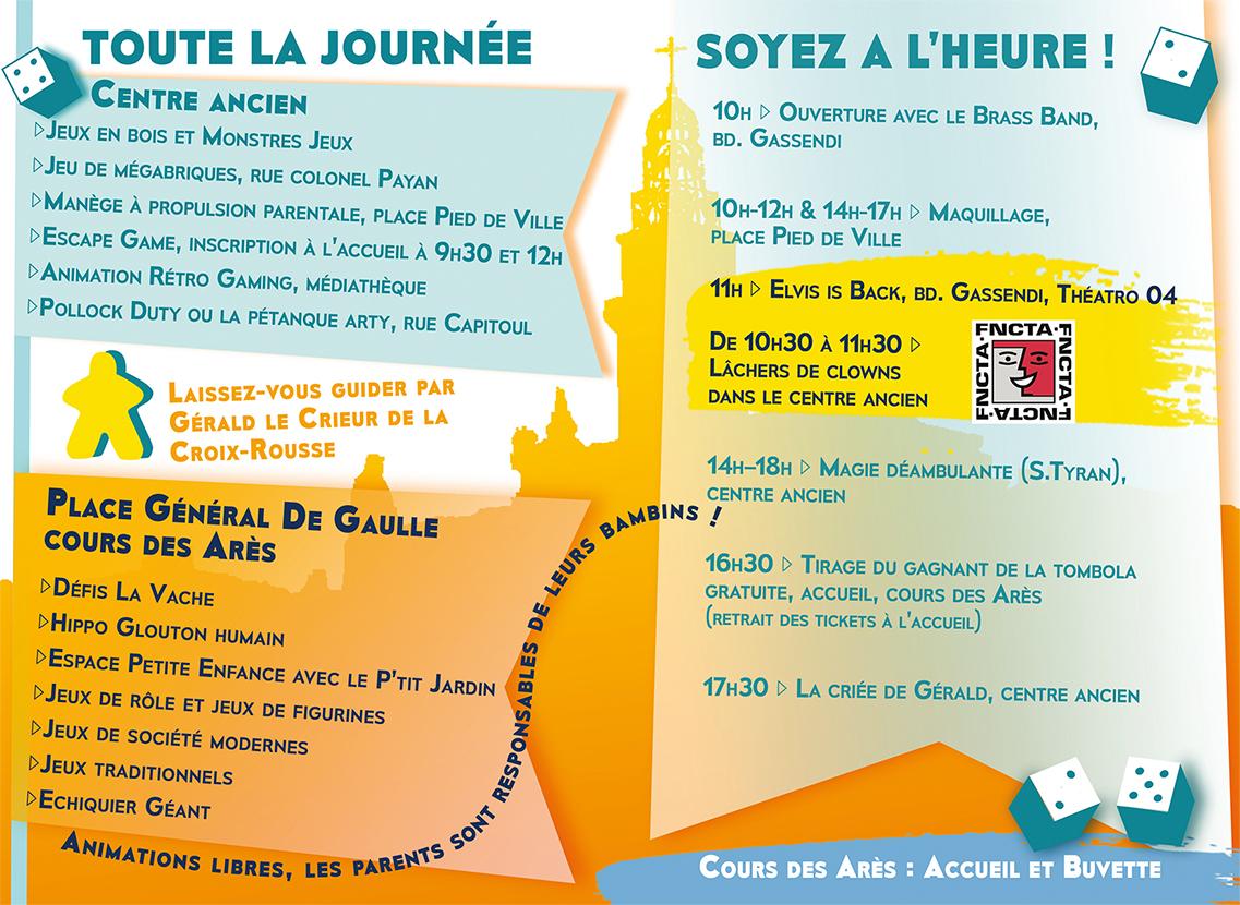 Programme du Festival du Jeu 2019